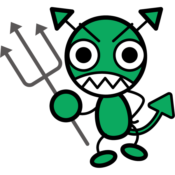 学校 ばい菌(バイキン・緑)(カラー)