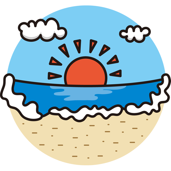 自然 海(砂浜)(カラー)