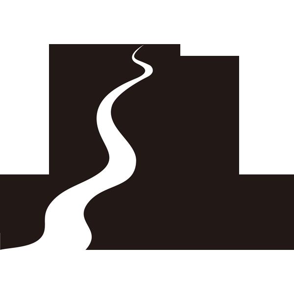 自然 山(シルエットイラスト)(モノクロ)