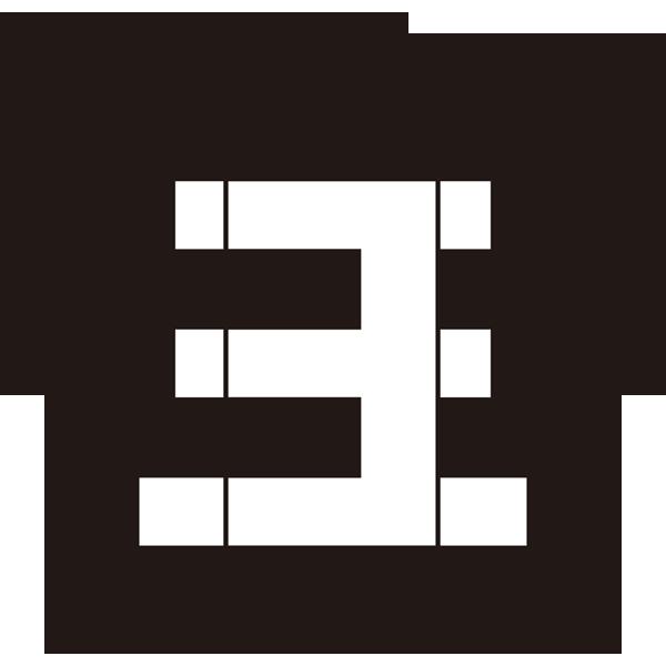 年中行事 七五三(ロゴ・三)(モノクロ)