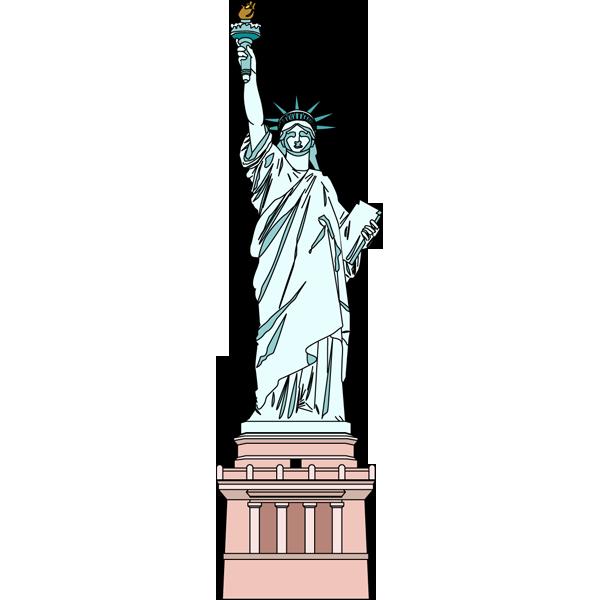 社会 自由の女神(アメリカ合衆国)(カラー)
