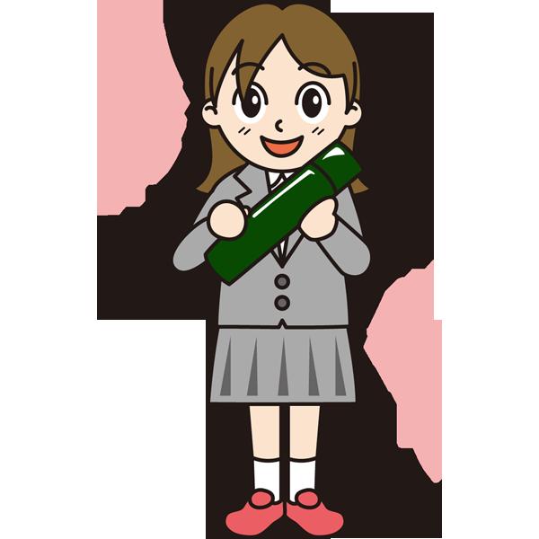 年中行事 女子生徒(卒業証書)(カラー)