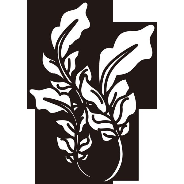 植物 ナズナ(モノクロ)