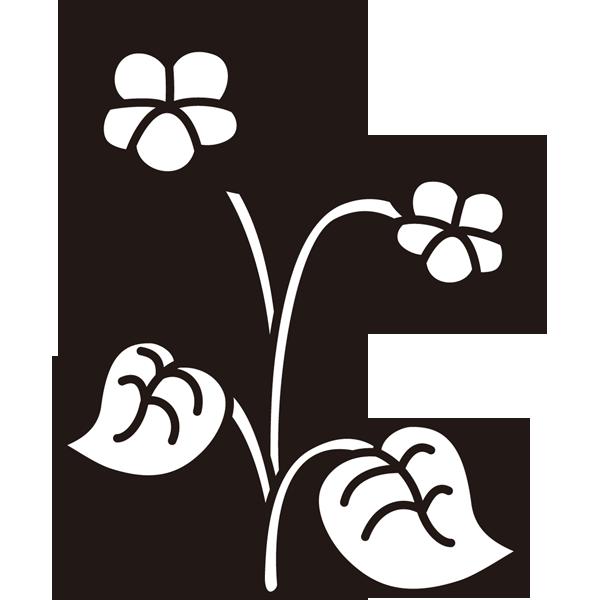 植物 すみれ(モノクロ)