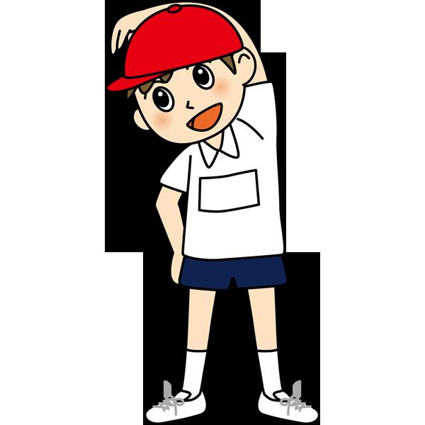 学校 男子生徒(体操着の男の子)(カラー)
