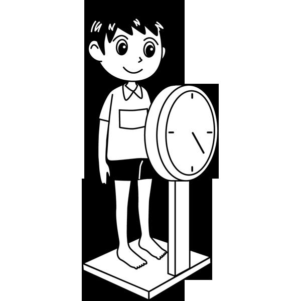 学校 男子生徒(身体測定)(モノクロ)
