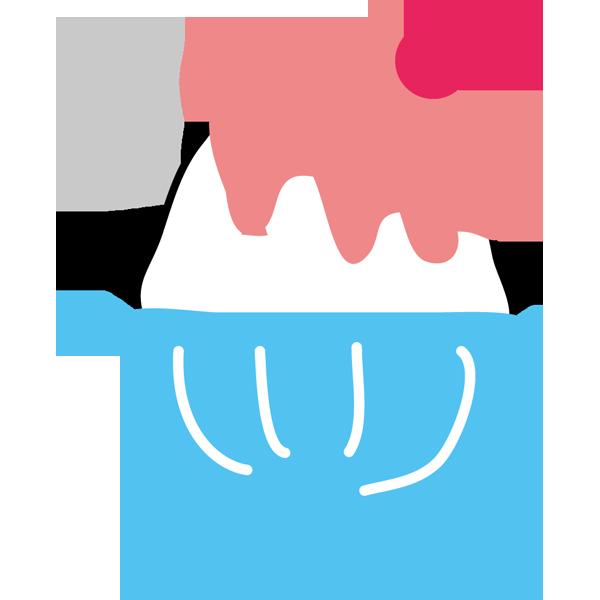 年中行事 かき氷(イチゴ味・ピンク色)(カラー)