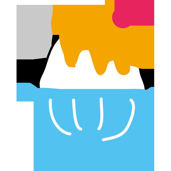 年中行事 かき氷(オレンジ味・オレンジ色)(カラー)
