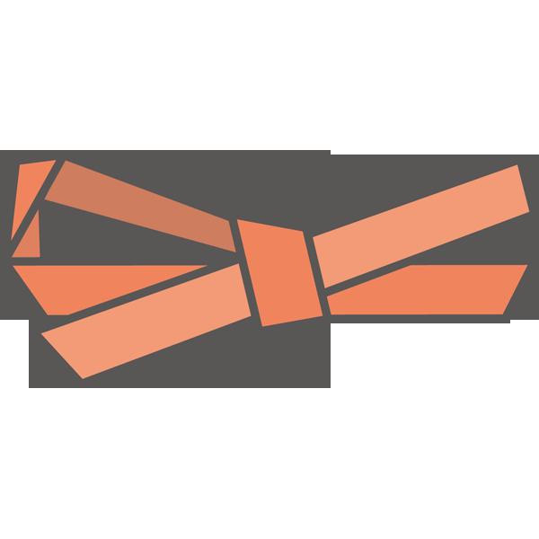 装飾 リボン(赤色)(カラー)