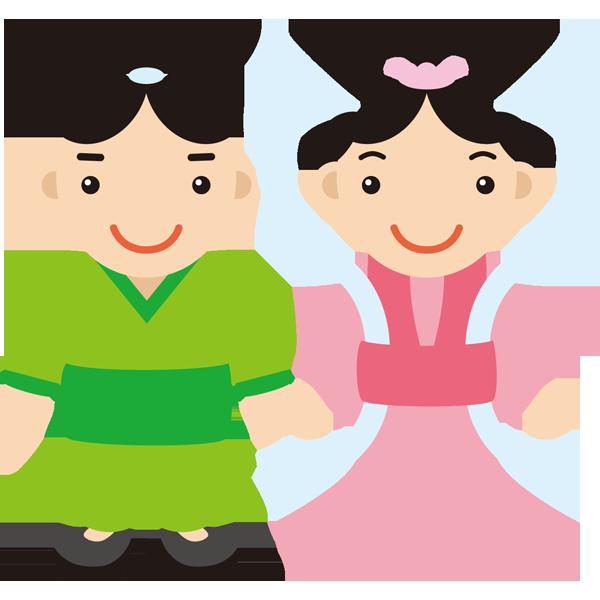 年中行事 織り姫とひこ星(カラー)