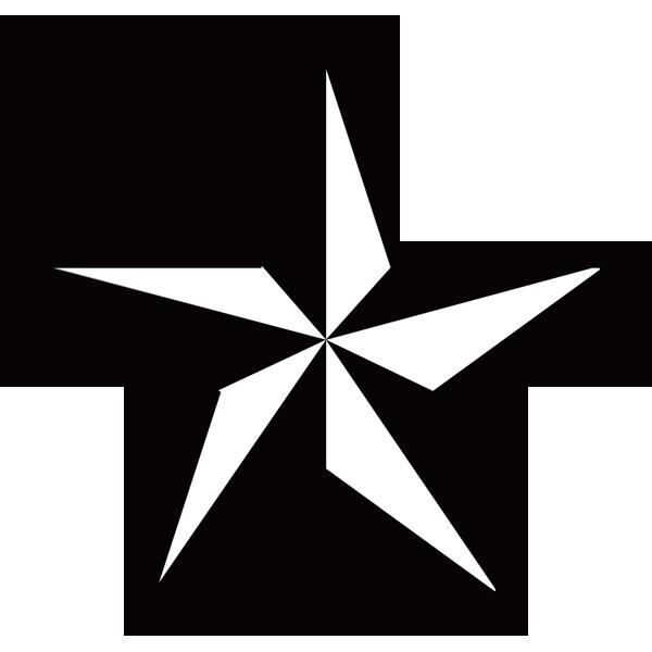 装飾 星(モノクロ)