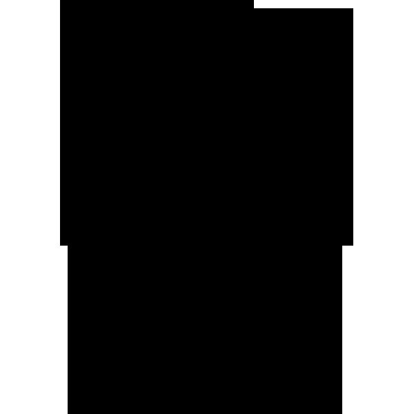 年中行事 ひこ星(シルエット)(モノクロ)