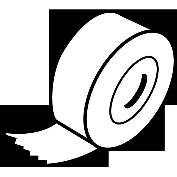 学校 テープ(モノクロ)