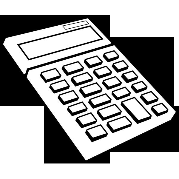 ビジネス 電卓(モノクロ)