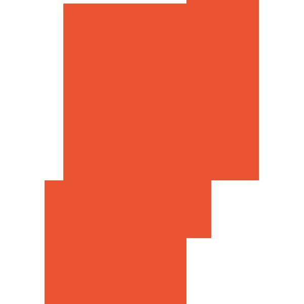 ビジネス クリップ(オレンジ)(カラー)