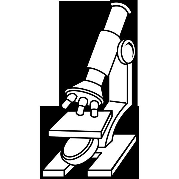 学校 顕微鏡(モノクロ)