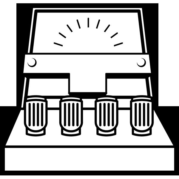 学校 電流計(モノクロ)