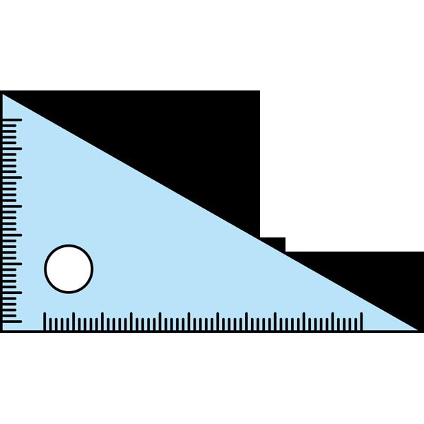 学校 三角定規(カラー)