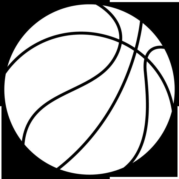 スポーツ バスケットボール(モノクロ)
