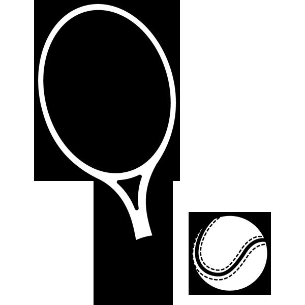 スポーツ テニス(ラケット・ボール)(モノクロ)