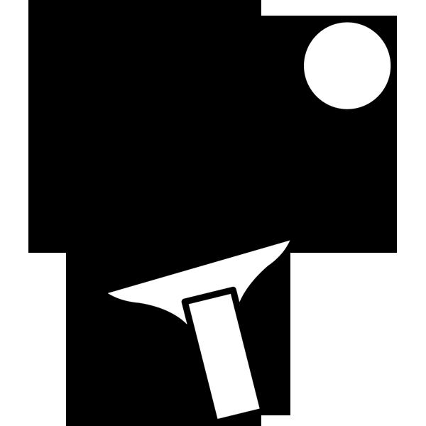 スポーツ 卓球(ラケット・ボール)(モノクロ)