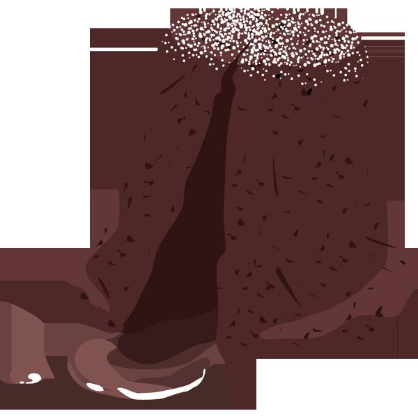 年中行事 チョコケーキ(フォンダンショコラ)(カラー)