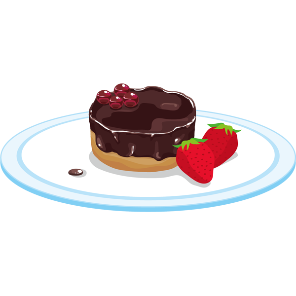年中行事 チョコケーキ(ベイクドショコラ・イチゴ)(カラー)