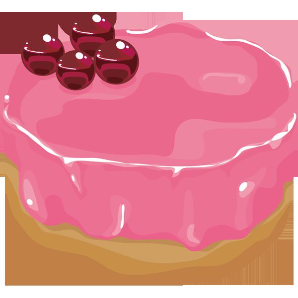 年中行事 ケーキ(ベイクドショコラ・イチゴ)(カラー)