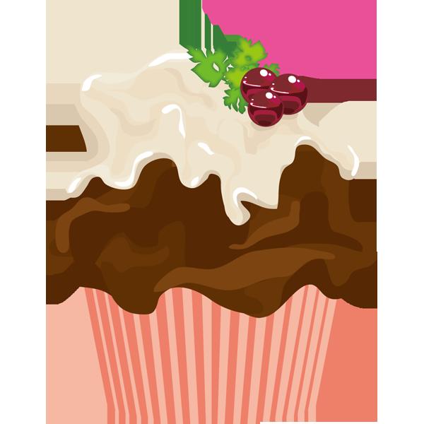 年中行事 カップケーキ(チョコ・ブルーベリー)(カラー)