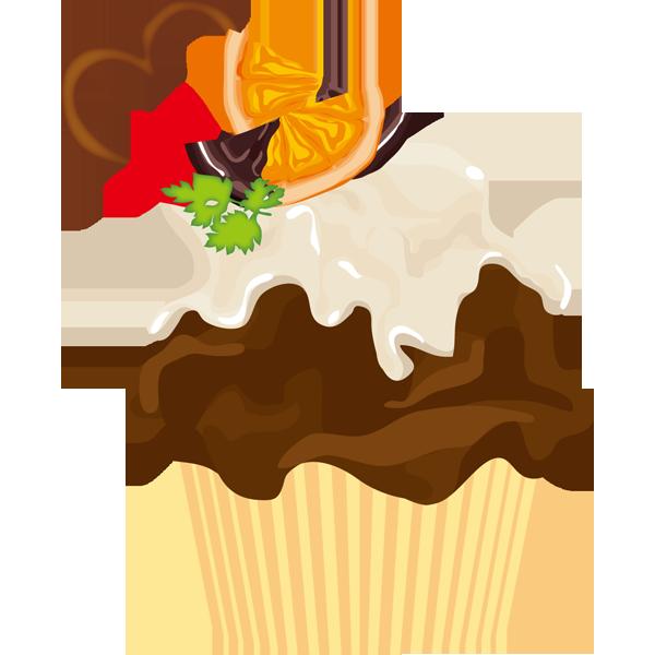 年中行事 カップケーキ(チョコ・オレンジ)(カラー)
