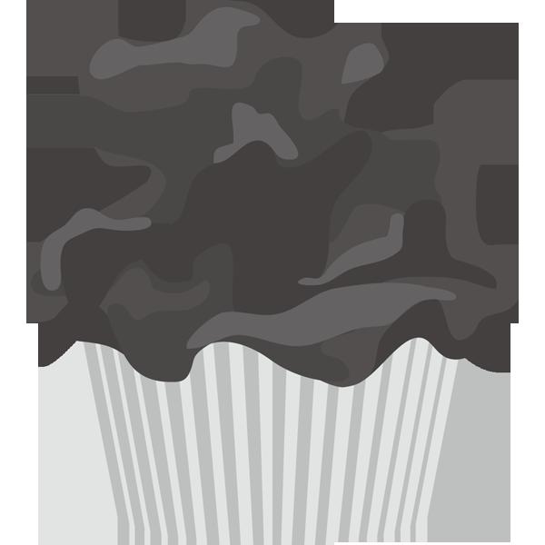 年中行事 カップケーキ(モノクロ)