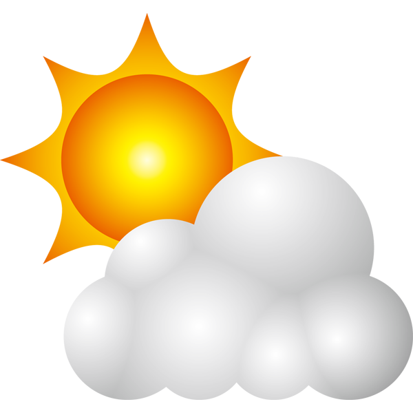 自然 晴れ時々くもり(天気・太陽・雲)(カラー)