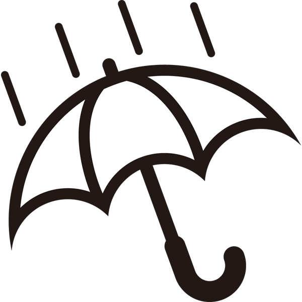 自然 雨(天気・傘)(モノクロ)