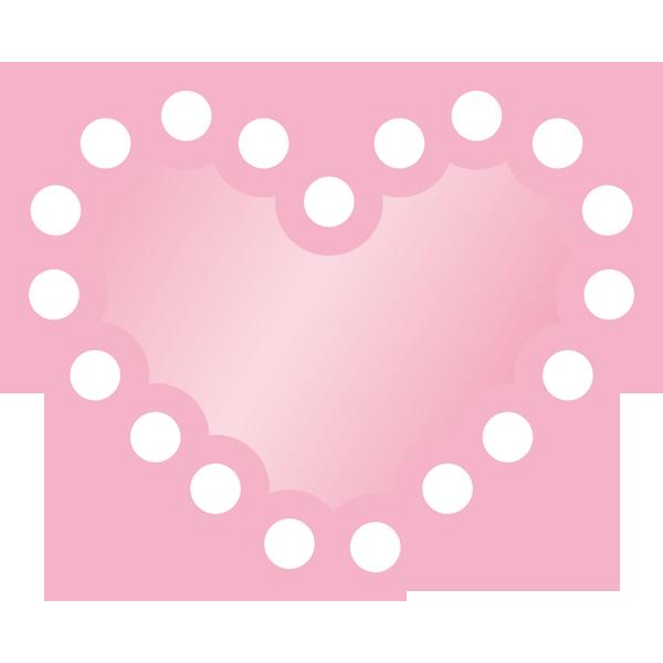 装飾 ピンク色のハート(カラー)