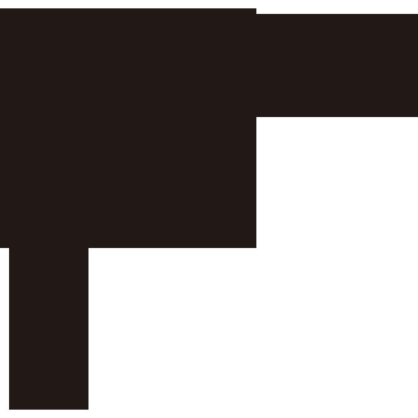 装飾 オーナメント(葉)(モノクロ)