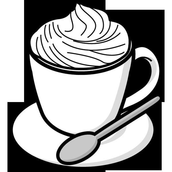 食品 コーヒー(ウィンナーコーヒー)(モノクロ)