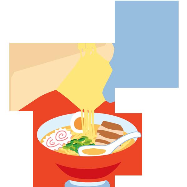 ラーメン1(お箸・湯気つき)