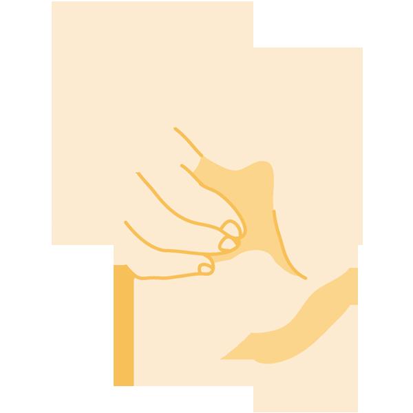 手(指差し)(正面)