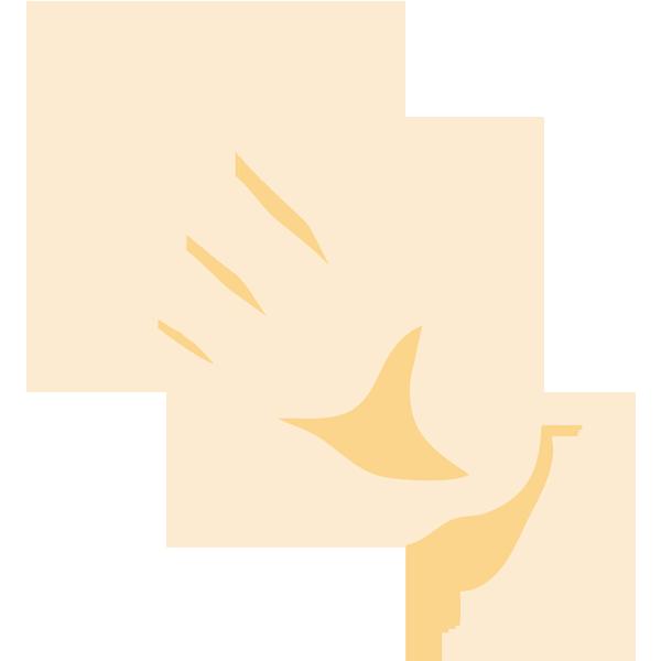 手(5/パー)(ナナメ)