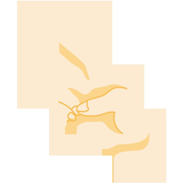 手(2/ピース)(ナナメ)