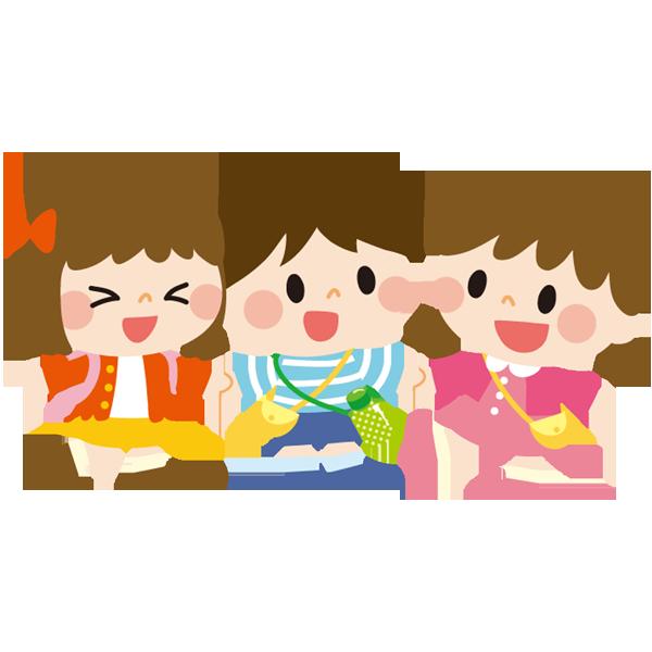 遠足へ行く子供たち