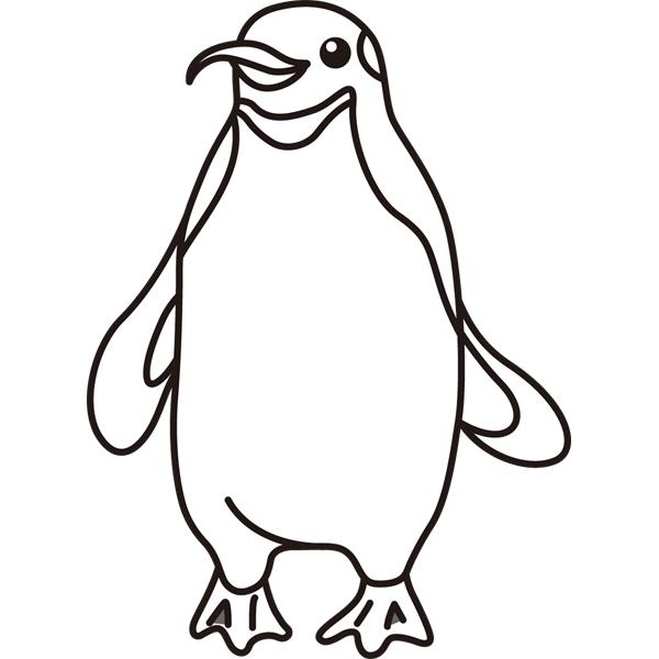 動物 ペンギン(モノクロ)
