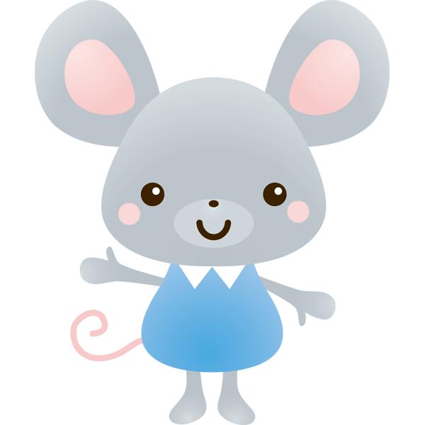 動物 子(ネズミ)(カラー)