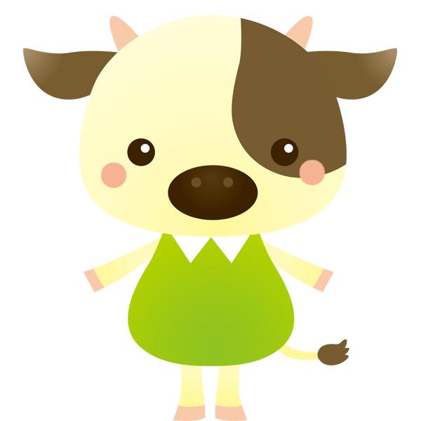 動物 丑(ウシ)(カラー)