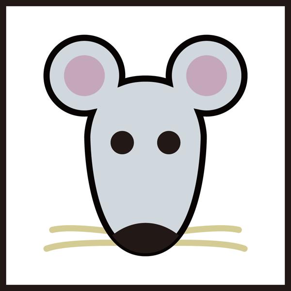 動物 子(ネズミ)アイコン(カラー)