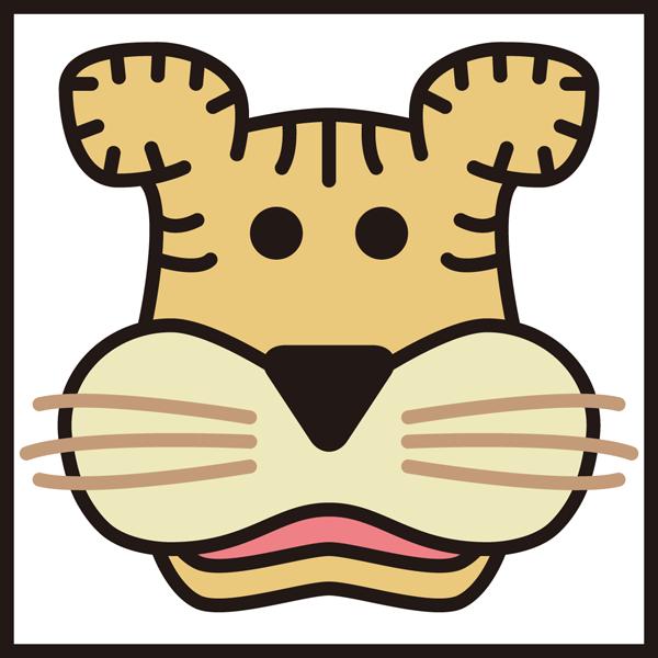 動物 寅(トラ)アイコン(カラー)