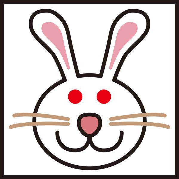 動物 卯(ウサギ)アイコン(カラー)