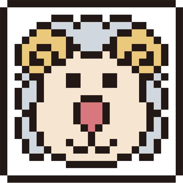 動物 未(ヒツジ)アイコン(カラー)