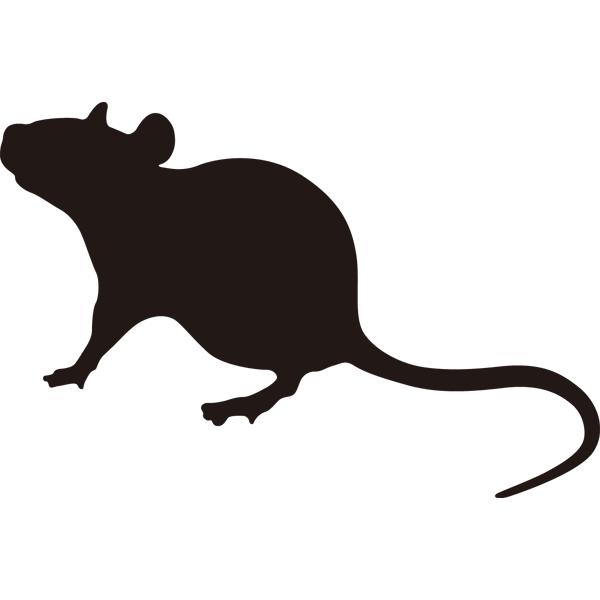 動物 干支シルエット(子・ネズミ)