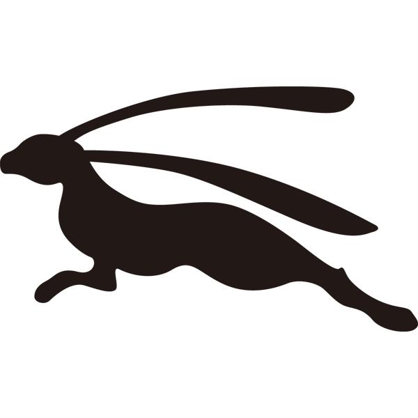 動物 干支シルエット(卯・ウサギ)